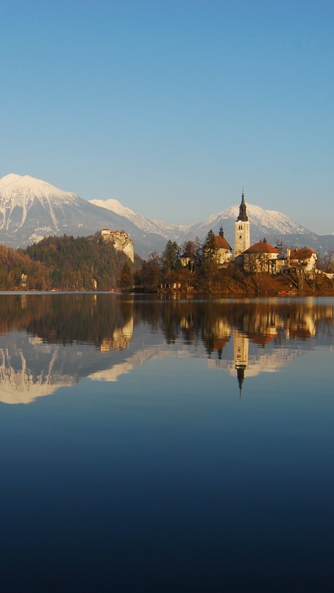 Bask in the striking panoramas of Bled.